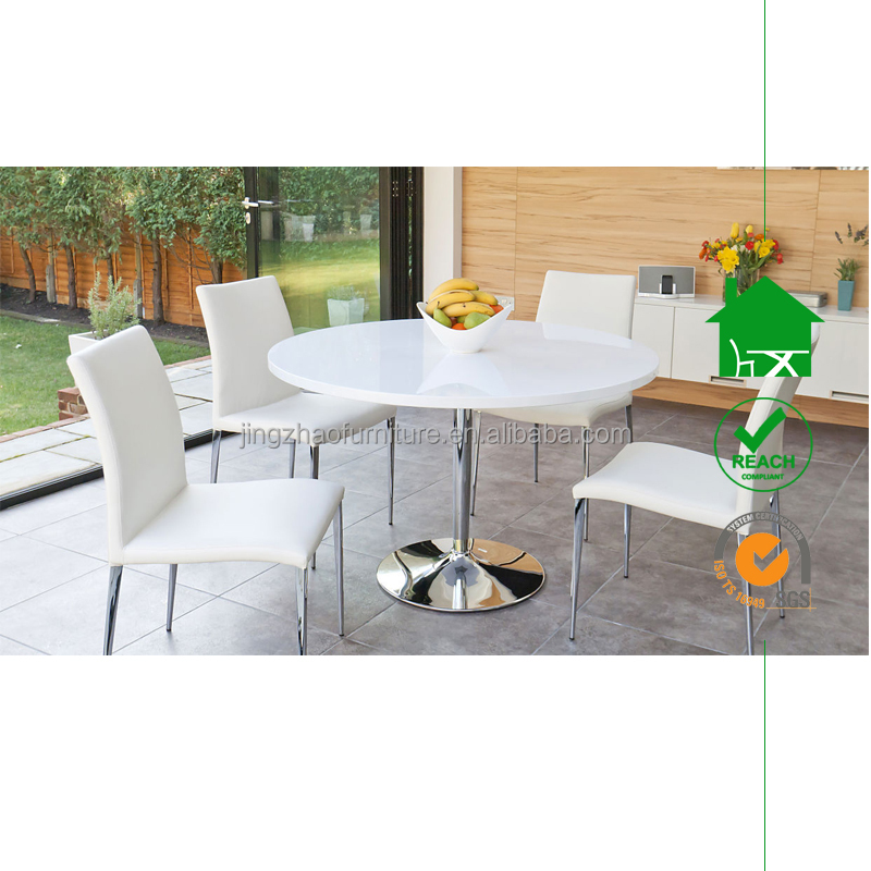 DT-2040 Round 4 Seater High Gloss Dining Table