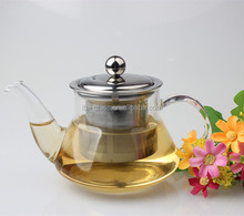 350ml mordern antique design decorative factory cheap high borosilicate clear glass teapot with warmer and filter wholesale
