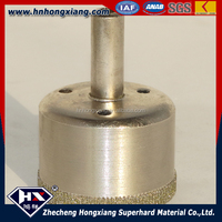 Electroplated diamond core drill bit for stone wed dry drilling glass cutting bit tools
