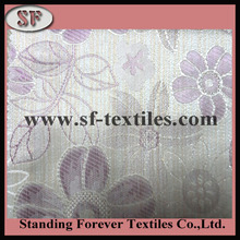 Latest design 100% polyester floral jacquard fabric picture wholesale