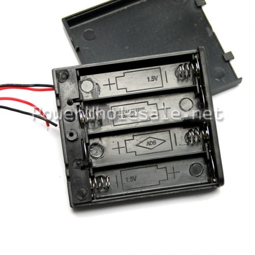 Efest 4 aa battery holder/ battery case with wire leads