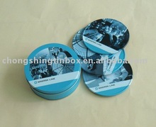 Round Tin Coaster Set