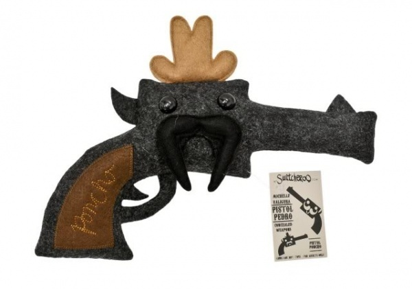Custom design good quality gun plush toy