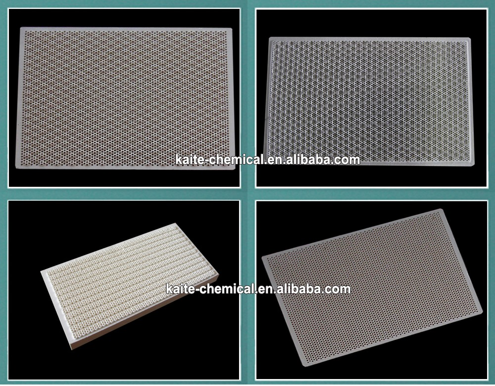 Saving energy infrared honeycomb ceramic heater plaques with catalyst