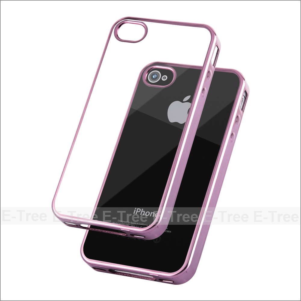 Chrome TPU Soft Phone Case Cover For Iphone5