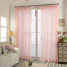 Solid Color Semi-Sheer Soft All-Match Drapes Pleated Voile Curtains