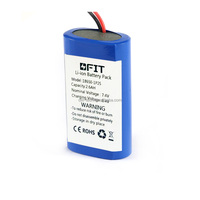 Best quality 7.4v 2600mah rechargeable li-ion battery pack