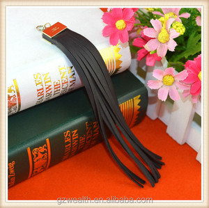 High quality custom designs leather tassel fringes for garment decorations