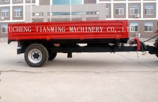 7CX-2 single axle trailer, tractor farm machinery trailer