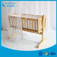European durable infant swing bed wooden crib baby cradle