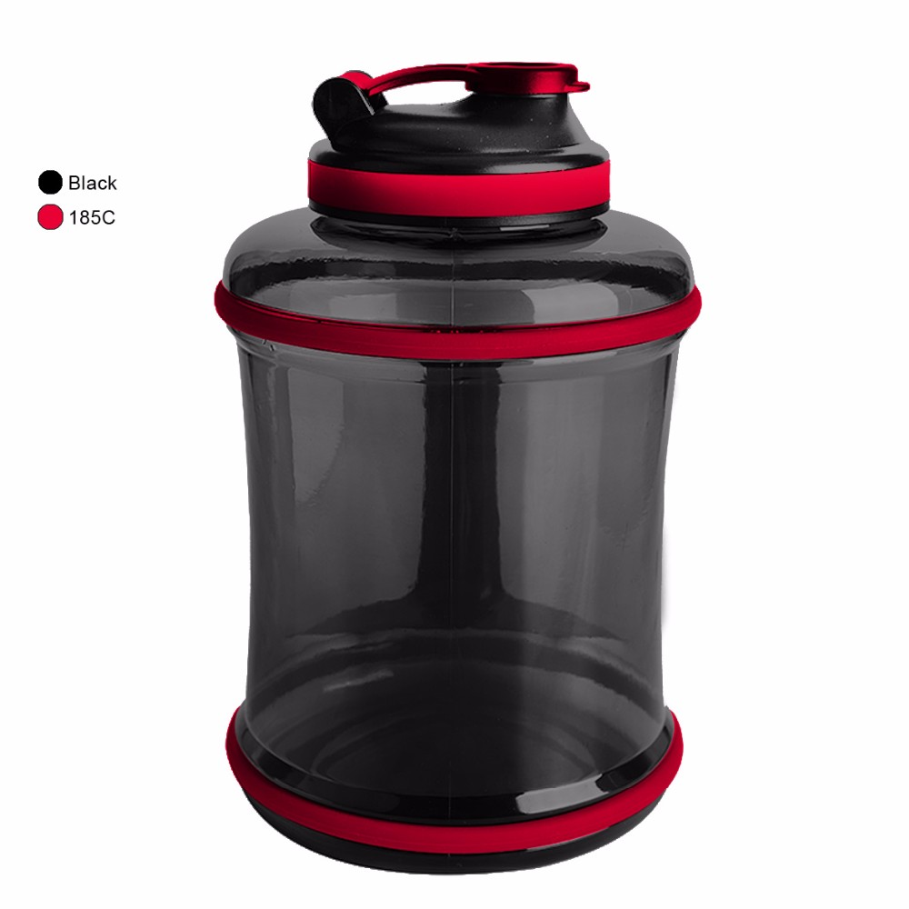 Half gallon 2500ML big handle big bottle with high quality in PETG water bottle