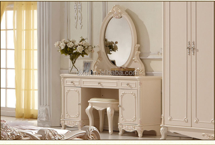 Modern Wood Dressing Table Wood Furniture Design mirrored Dresser Table with drawer