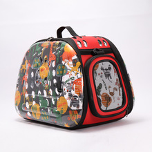Colorful Luxury Portable Pet Carrier Bag PC Transparent Cat Carry Bags Cat Carrier