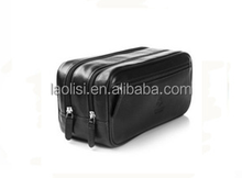 2015 new design cosmetic bag washing bag mens leather toiletry bag