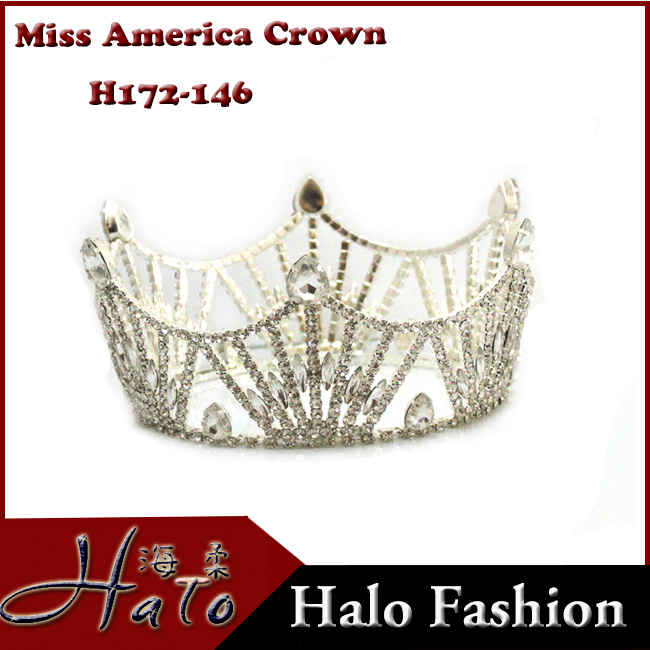 2016 Beauty Queen Miss America Pageant Crowns For Sale Halo crown tiaras big pageant