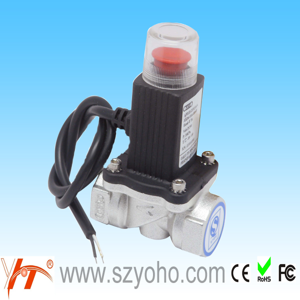 Aluminun/Brass alloy valves brass <strong>gas</strong> shut off valve type DN15/20 automatic LPG <strong>gas</strong> solenoid valve