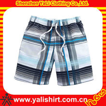Fashion summer quick dry soft plaid cotton casual fitness men blank board shorts wholesale
