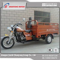 Heavy duty gasoline petrol tricycle three wheeler 150cc 200cc tricycle 2017 China Compact Three Wheel Motorcycle