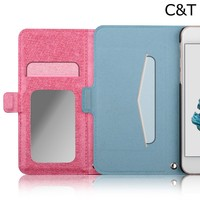 C&T Synthetic Leather Folio Stand Flip Cover Case for iPhone 6 4.7""