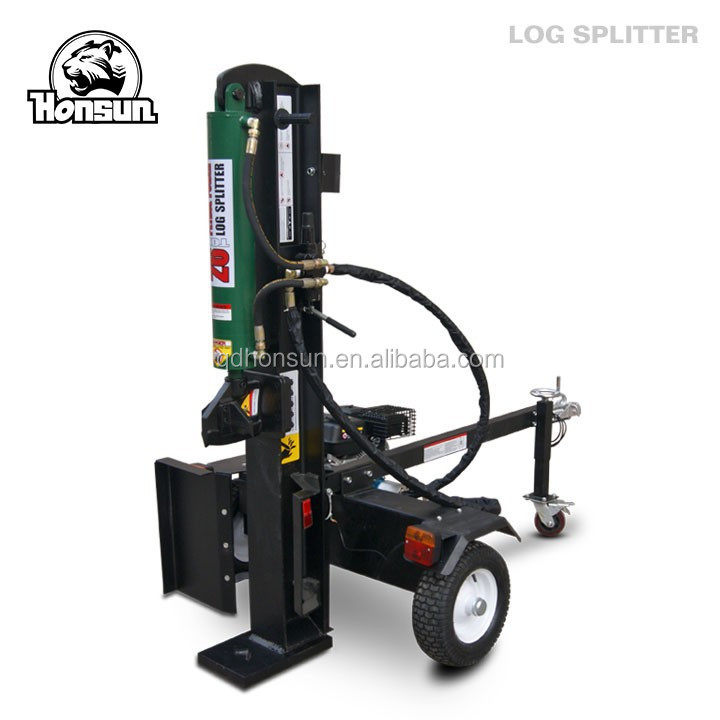 High capacity CE approved Honda gas motor horizontal vertical towable size 26t wood log cutter and splitter