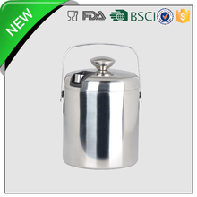 single wall stainless steel ice bucket