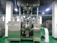 Hydraulic lifting top homogenizer vacuum cosmetic emulsifier mixer