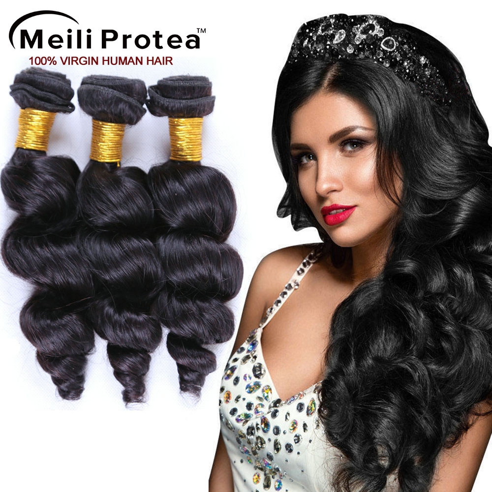 Real cheap loose wave 100% brazilian remy hair weave, human hair extension with 4*4 lace closure