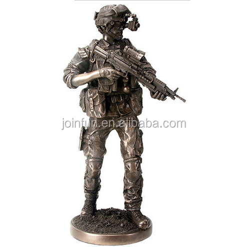 custom make plastic Soldier Army Military Statue Sculpture Figure