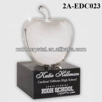 Clear Crystal Apple Award