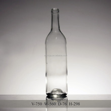 750ml clear long neck glass bottle for red wine wholesale