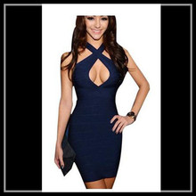 Bandage prom dress for fat royal blue plus size cocktail dress