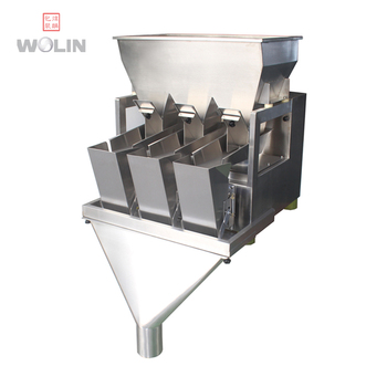 Compact 3 head nut snacks filling weigher