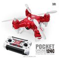 124C 2.4G 4CH 3D Rotation mini drone camera upgraded pocket drones