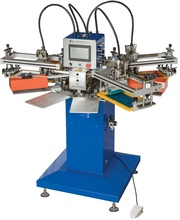 SPF multi-colors automatic Rotary screen printing machine for T-shirt/Fabric /socks