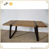 dining room furniture reclaimed wood solid wood industrial wood metal dining table