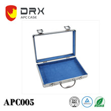 Coloful Elegant small aluminum travel jewelry case, jewelry display case, carrying case for jewelry