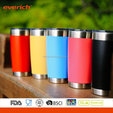Vacuum Insulated Colorful Stainless Steel Travel Mug Tumbler with Customized Logo
