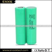 Electric bike battery 3.7v lithium ion samsung 18650 25r 2500mAh rechargeable batteries for vaping