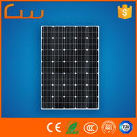 12v Factory wholesale AI frame 100w 200w 250w solar panel price list