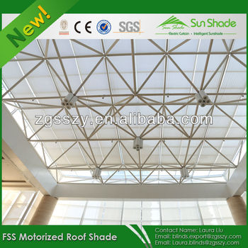 Customized Remote Control Retractable Skylight Shade