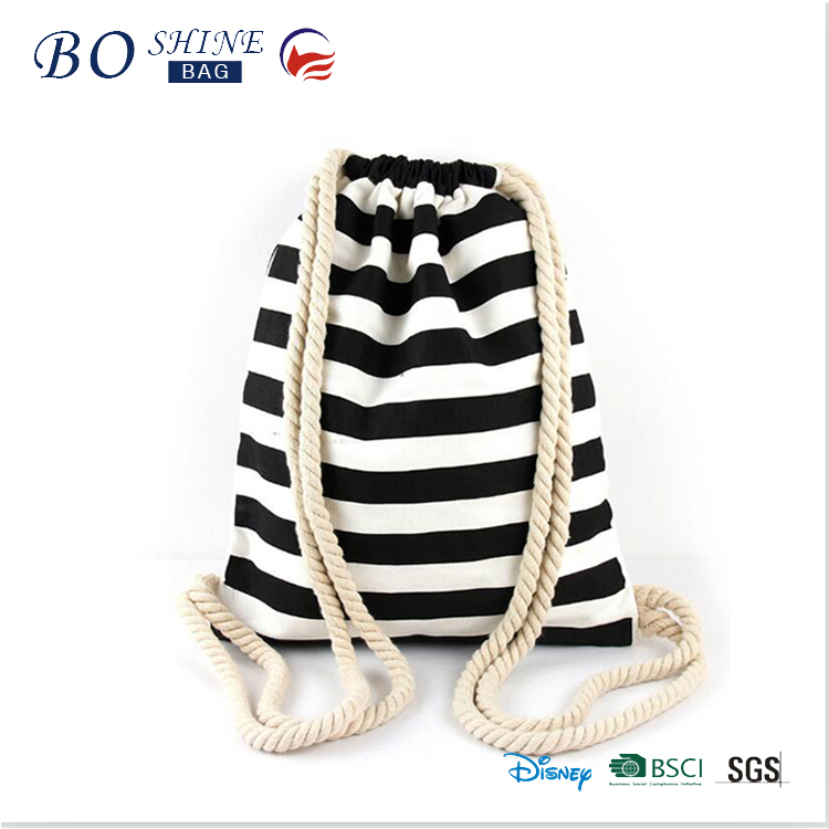 Dongguan BS-T-045 Manufacturer Fashion high quality promotional cotton drawtring bag