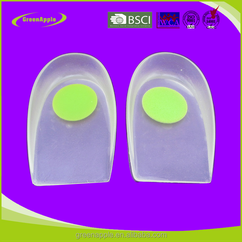 Medical Plantar Fasciitis Pain Relief Massaging Silicone Heel Wedge Cup Cushion Pads