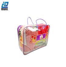 Clear Waterproof Plastic Vinyl Pvc Zipper Blanket Bag For Quilt Packing