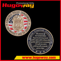 Custom commemorative coin with enamel logo