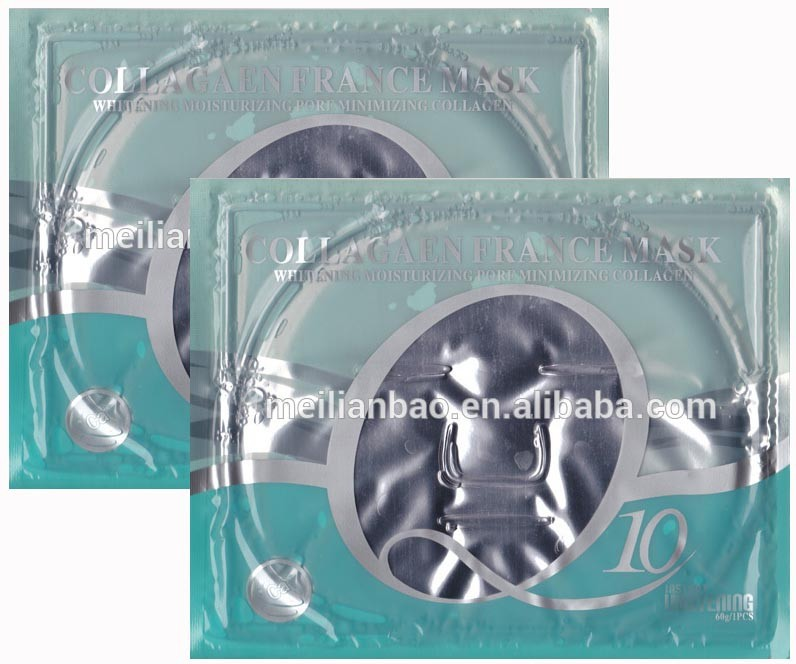 <strong>Q10</strong> moisturizing whitening placenta lifting renew <strong>collagen</strong> crystal facial mask