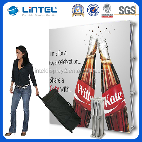 portable advertising pop up stands, pop displays for trade show