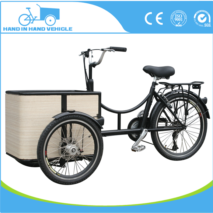 new design reverse trike tricycle two front wheels cargo bike for sale