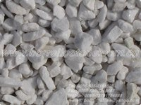 white gemstone gravel