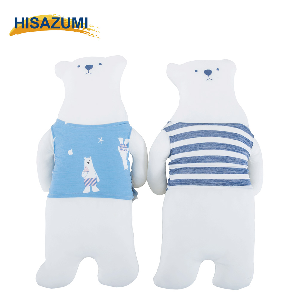 2017 Newest Bear Shape Cartoon Underwaist Polyester Bolster Cushion Cool Feeling Stuffed Toy