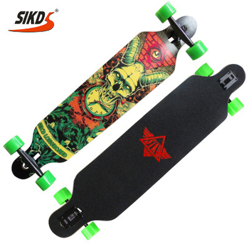 41*9.5inch custom long skateboard maple deck with 7inch truck free style maple longboard skateboard
